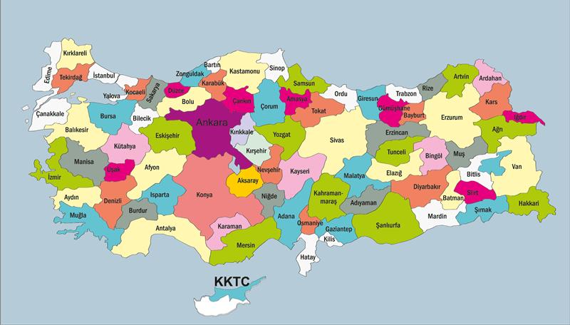 Türkiye meyve haritası