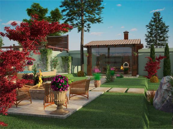 bahçe yapımı örnekleri görseli