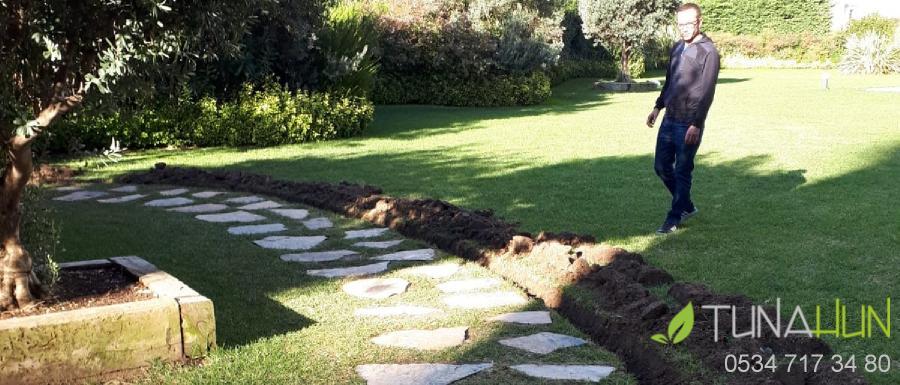 bahçeye yürüyüş yolu yapma