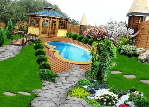 modern bahçe yapımı resimli